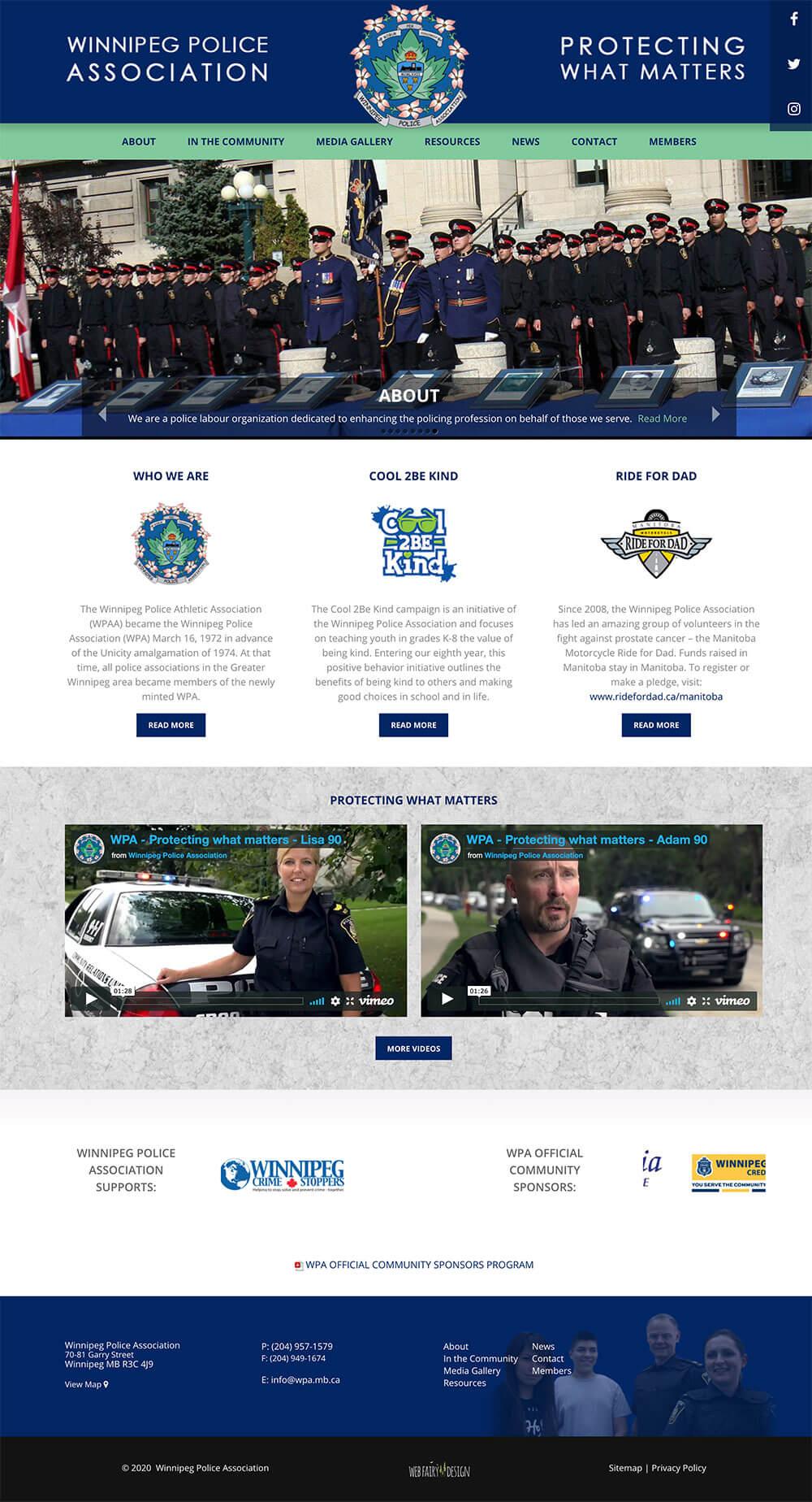 Winnipeg Police Association Website